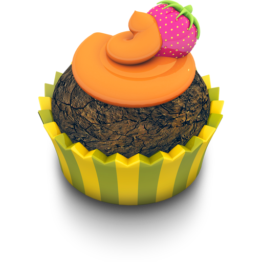 Chocolate Orange Cupcake icon