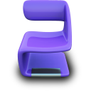 Purple-Seat icon