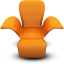 Orange Seat icon