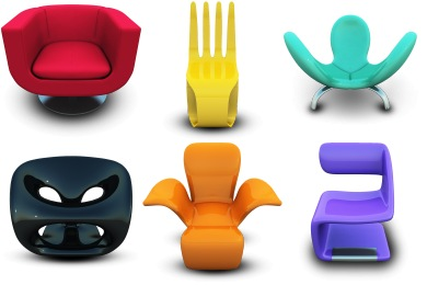 Modern Chairs Icons