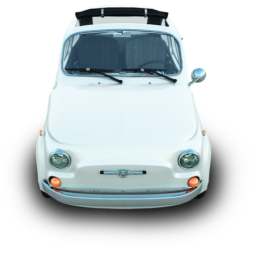 Fiat 500 Icon Silver Cars Iconset Archigraphs
