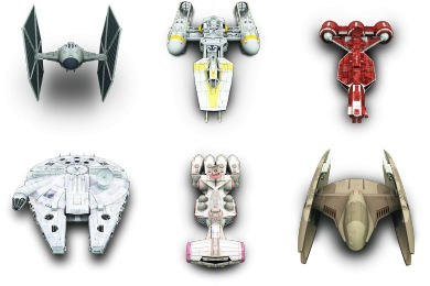Star Wars Vehicles Iconset 8 Icons Archigraphs