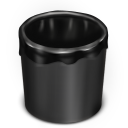 Trash Black Empty icon