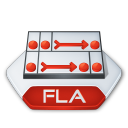 Adobe-flash-fla icon