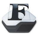 Folder fonts folder icon