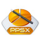 Office powerpoint ppsx icon