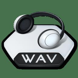 Media music wav icon