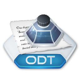 Office word odt icon