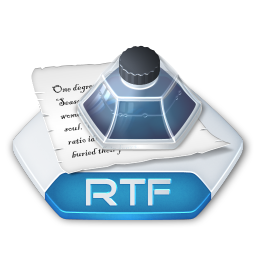 Office word rtf icon