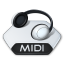 Media music midi icon
