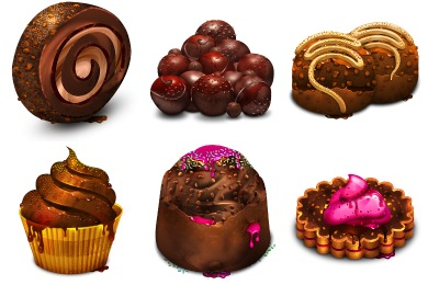 Chocolate Obsession Icons