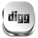 Digg Gray 3 icon