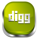 Digg Green 3 icon