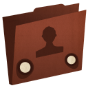 Folder-user icon