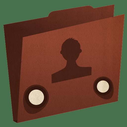 Folder-user icon