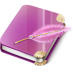 Notebook girl icon