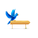 Bird sign icon