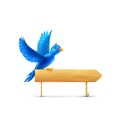 Bird sign sparkles icon