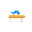 birds and sign icon