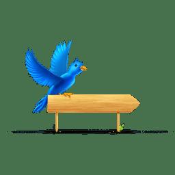 Bird sign icon