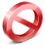 Banned sign icon