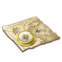 Treasure-map icon