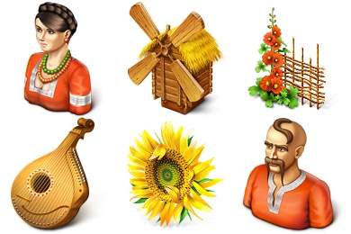 Ukrainian Motifs Icons