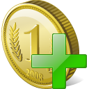 coin add icon