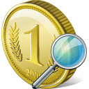 Coin search icon