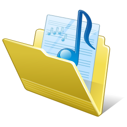 Folder my music Icon | Vista Artistic Iconset | Lokas Software