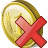 Coin delete icon