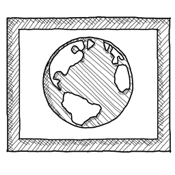 Ms visual web icon