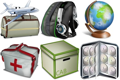 Bagg And Boxes Icons