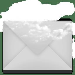 mail envelope cloud icon