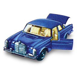 Mercedes 300 SE with Open Boot icon