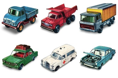 1960 Matchbox Cars Icons