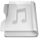 Aluminium music icon