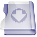 Purple download icon