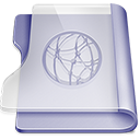 Purple idisk icon