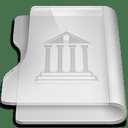 Aluminium library icon