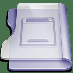 Purple desktop icon