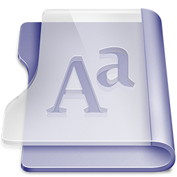 Purple font icon