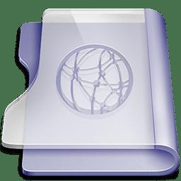 Purple idisk icon