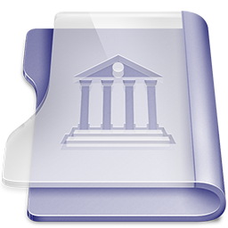 Purple library icon