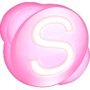 Skype pink icon