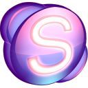 Skype purple icon
