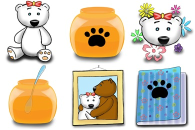 Teeny Bears Icons