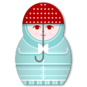 Matryoshka Rainy Day icon