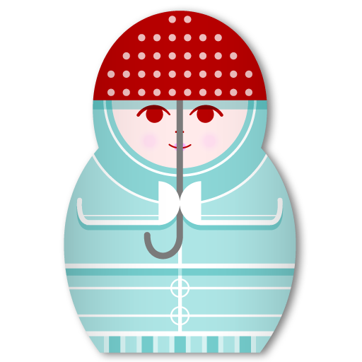 Matryoshka Rainy Day icon