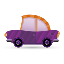 Car purple icon